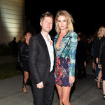 Christopher bailey and rosie huntington whiteley at the burberry  london in los angeles  event